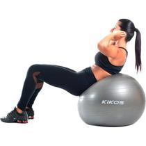 Bola de Ginástica Kikos Fitball 75 cm Cinza -