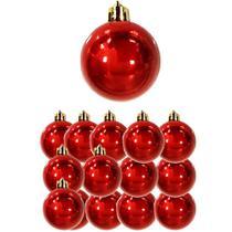 Bola de natal lisa brilhosa vermelha / vinho 30 pecas 6cm de ø no tubo - Westernw