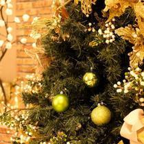 Bola de Natal Lisa / Mate / Glitter Verde Claro 7cm (Bola de Natal em Tubos) - Jogo com 8 Peças - Cromus
