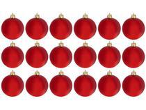 Bola de Natal Vermelha Lisa NATAL040A Casambiente - 6cm 18 Unidades