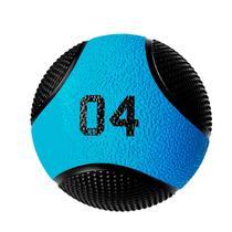 Bola de Peso Medicine 4kg Profissional Azul Turquesa com Preto  Liveup -