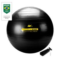 Bola de Pilates 45 cm Funcional Preto Ziva -