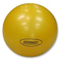 Bola de Pilates 55 cm Amarela c/ Bomba Supermedy -
