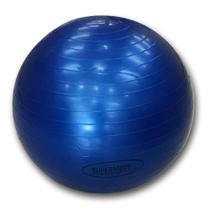 Bola de Pilates 65 cm Azul c/ Bomba Supermedy -