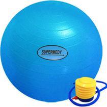Bola de pilates ginastica 55cm com bomba supermedy -
