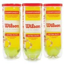 Bola de Tênis Wilson Championship Pack com 03 Tubos -