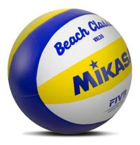 Bola de Vôlei de Praia VXL30 Branco, Amarelo e Azul - Mikasa -