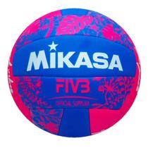 Bola de Vôlei de Quadra/Praia Mikasa Good Vibes Rosa/Azul -