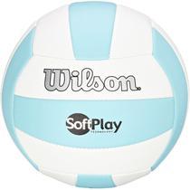 Bola de Vôlei Soft Play Azul Claro e Branco - Wilson -