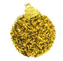 Bola Decorada Festão Dourada Decoração De Natal Com 6 Unidades 4cm - Master