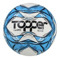 Bola futebol campo slick li cor azul e preto - 5159 - Topper