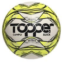 BOLA FUTEBOL CAMPO TOPPER SLICK LI Cor Amarelo Neon/ Preto - 5161 -