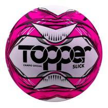 BOLA FUTEBOL CAMPO TOPPER SLICK LI Cor Rosa Neon/ Preto - 5160 -