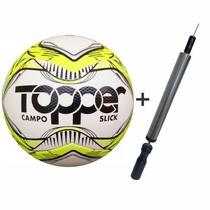 Bola Futebol Campo Topper Slick Mais Inflador -