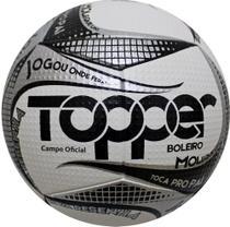 Bola Futebol de Campo Boleiro Branco/Cinza 2019 - Topper -