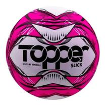 BOLA FUTEBOL FUTSAL  SLICK LI Cor Rosa Neon/ Preto - 5166 - Topper