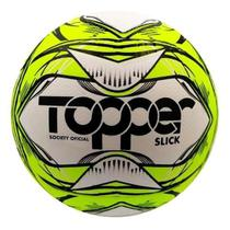 Bola futebol society topper scyt cor amarelo neon/preto - -