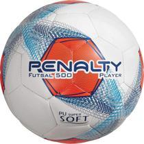Bola Futsal Penalty Player 8 Branco/Marinho -