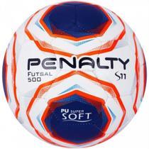 Bola Futsal S11 R2 X Branca Azul e Laranja Penalty -