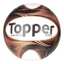 Bola Futsal Topper Slick II Exclusiva - Preto+Dourado -