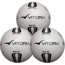 4cf11980c15aa 3 Bolas Futsal Vitória Oficial Maxi 200 Infantil Sub 13