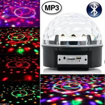 Bola Maluca LED RGB Holográfico Bluethooth Magic Ball CBRN08902 - Commerce brasil