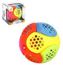 Bola musical infantil super maluca colors com luz a pilha na caixa wb5682 - Wellmix