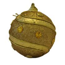 Bola Natal Decorada Dourada Ref:HZ38-8/106G unid. - Natal Brasil