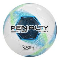 Bola Penalty de Futsal Player 500 Bc C/C VIII - Branco e Azul -