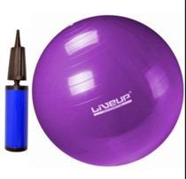 Bola pilates suiça s - 55cm - roxa com bomba de inflar liveup - Live Up