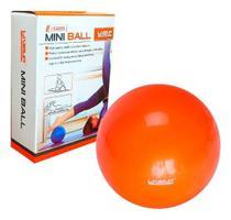 Bola Pilates Toning Ball Yoga Overball 25 Cm Laranja Treino Ginástica Academia Exercício Liveup -