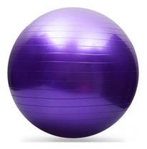 Bola Pilates Yoga 65cm Academia Treino Ginástica Fitness Roxo - Western