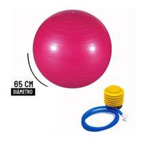 Bola Pilates Yoga Abdominal Ginastica 65cm Com Bomba - Rosa - Royal