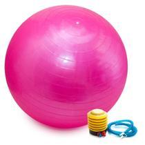 Bola Pilates Yoga Abdominal Ginástica Fitness 65 cm C/ Bomba ROSA - Astro Mix