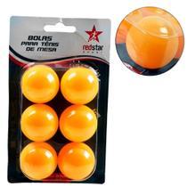 Bola Ping Pong 6 Peças Redstar - ELJ