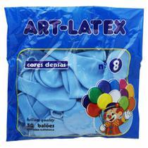 Bola soprar n.8 azul claro com 50un / pc / art-latex -