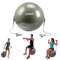 Bola Suica para Pilates 65cm com Extensores  Liveup - Live Up