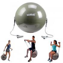 Bola Suica para Pilates 65cm com Extensores  Liveup -