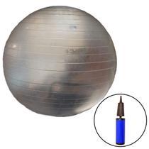 Bola Suíça para Pilates Transparente 65 CM com Bomba de Inflar LIVEUP -