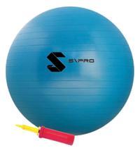 Bola suíça (pilates) - 55cm - c/ bomba - azul - S\PRO