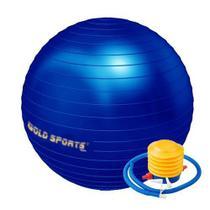 Bola Suiça Pilates Yoga 75cm com bomba de ar - Gold Sports