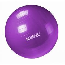 Bola Suica Premium Anti-estouro 55cm para Pilates Roxa  Liveup -