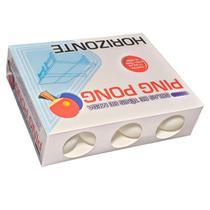 Bolas / Bolinhas De Ping Pong Branca Caixa Com 12 Unidades - Horizonte