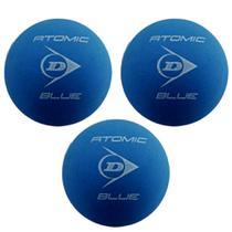 Bolas De Frescobol Dunlop Atomic Blue Kit 3 Unidades -