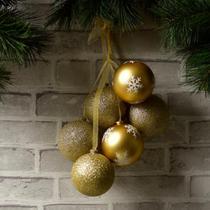 Bolas de Natal Douradas 6 Peças - Etna
