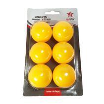 Bolinha Ping Pong Laranja com 6 unidades - RedStar - Red Star