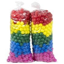 bolinhas coloridas saco c/100 bolas melhro preço - Valentina Brinquedos