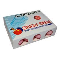 Bolinhas De Ping Pong Rosa Caixa Com 12 Unidades - 38mm - Horizonte