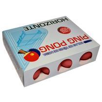Bolinhas De Ping Pong Vermelha Caixa Com 12 Unidades - 38mm - Horizonte