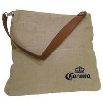 Bolsa Corona Bag Multiuso com 2 Bolsos Externos e Alça em Couro - Ambev